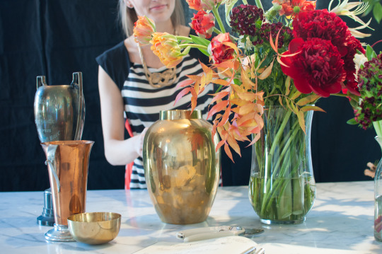 Vintage vases for holiday floral arrangements