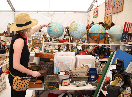 "Chairish Shops with Interior Decorator Katie Taylor at Texas Flea Market ""Round Top""."