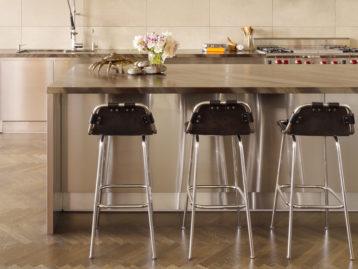 Bar Stools in Industrial Kitchen Chloe Warner