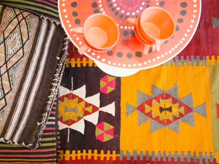 Bohemian Chic Textile Rugs on Chairish