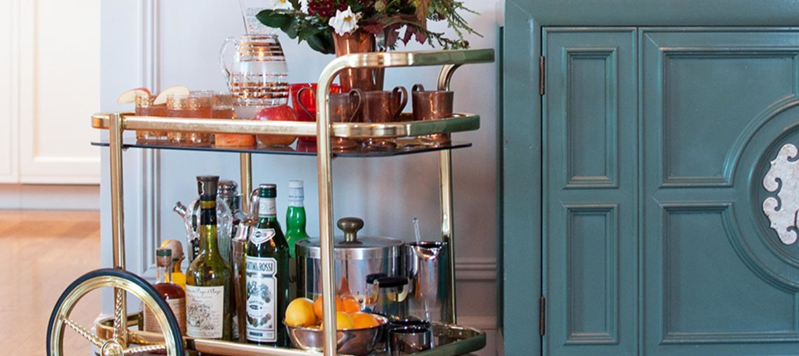 4 Chic & Easy Bar Cart Decorating Ideas To Steal