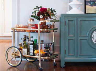 How to Style Your Bar Cart in 6 Easy Steps