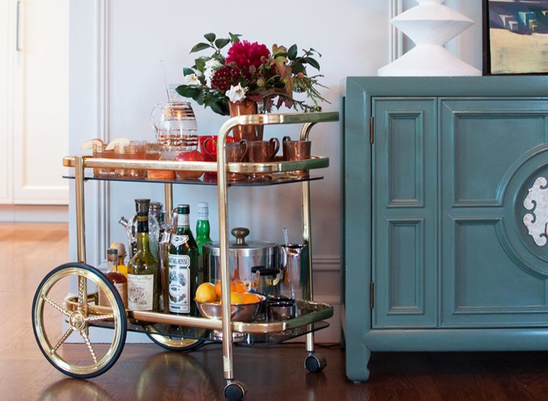 Cheers to a Stylin' Bar Cart