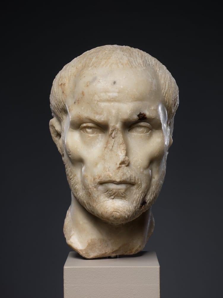Potraiture marble portrait roman antique metropolitan museum art