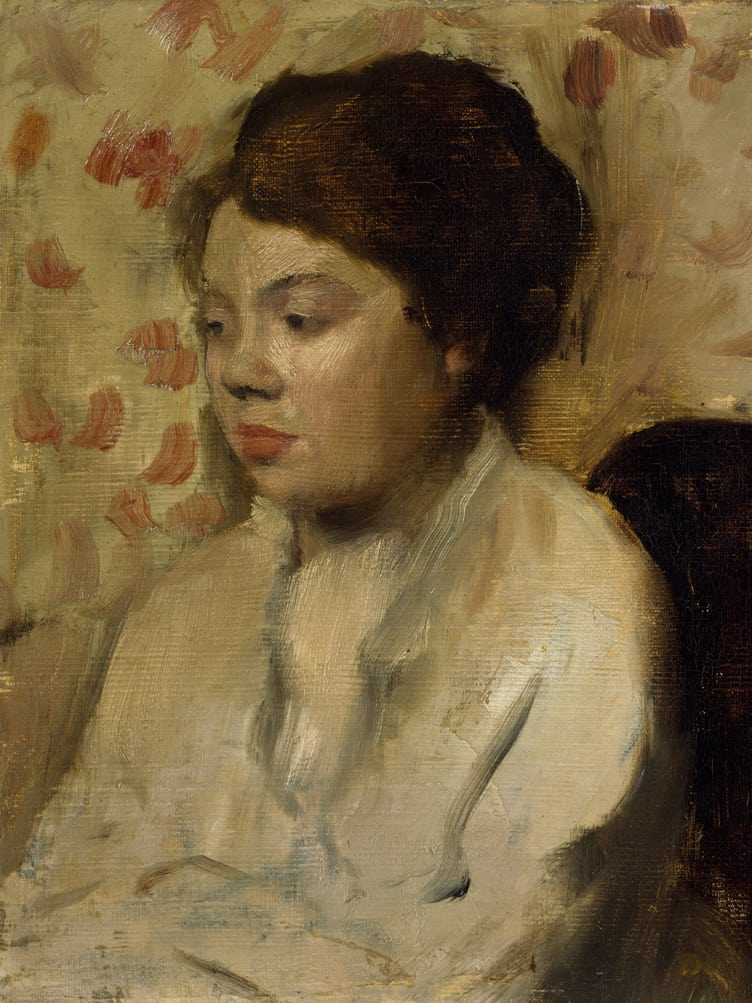 portraiture edgar degas young woman french paris metropolitan museum art oil