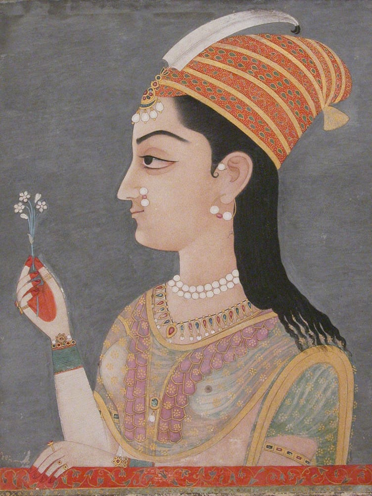 Portraiture lady india metropolitan museum art
