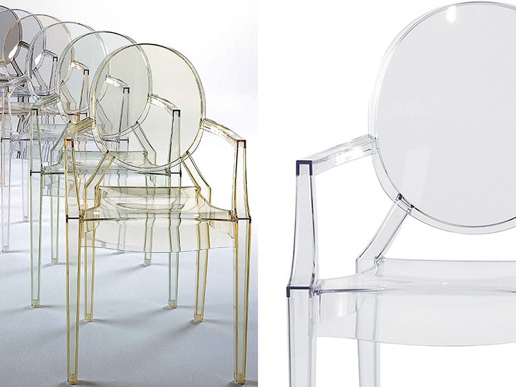 Starck Kartell Ghost Chair lucite style modern transparent