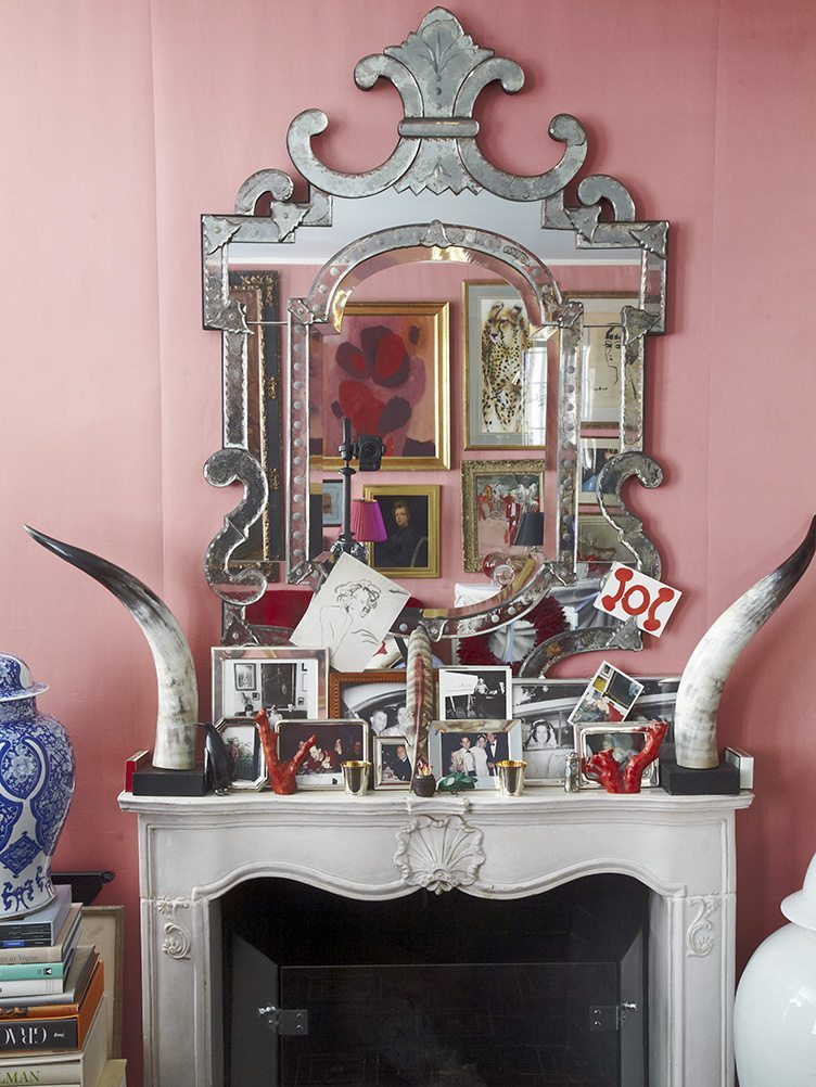 Miles Redd pink living room