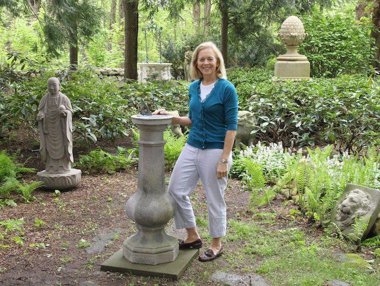 Barbara Israel Garden Antiques outdoor statues pedestal
