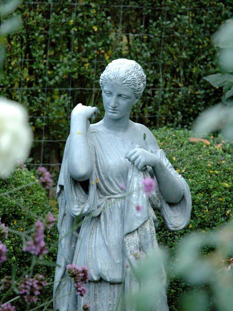 Barbara Israel garden antiques outdoor statue woman stone