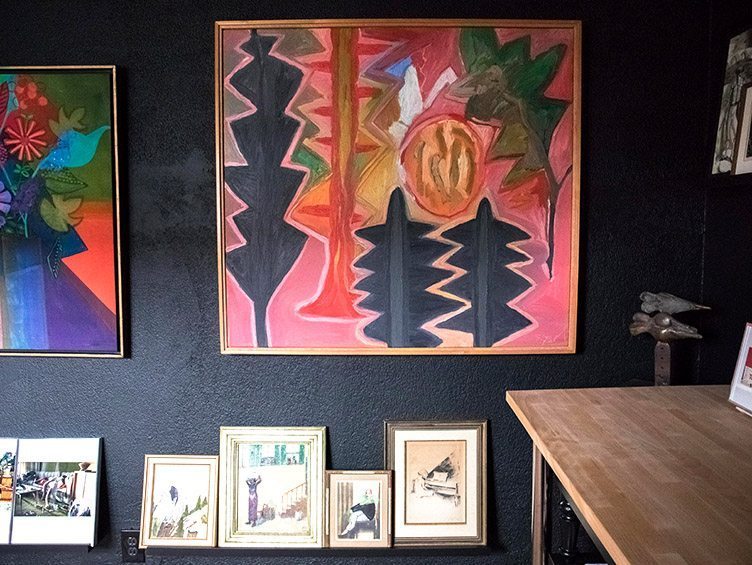 Large Abstract Geometric Painting on Chairish.