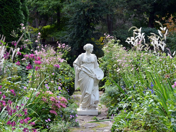 Barbara Israel garden antiques outdoor statue woman