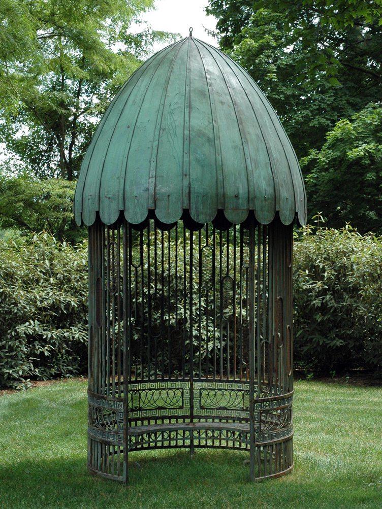 Barbara Israel garden antique pavilion rustic chic