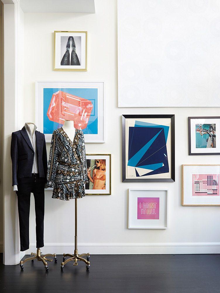 Veronica Beard design clothing SoHo gallery wall art vintage modern display