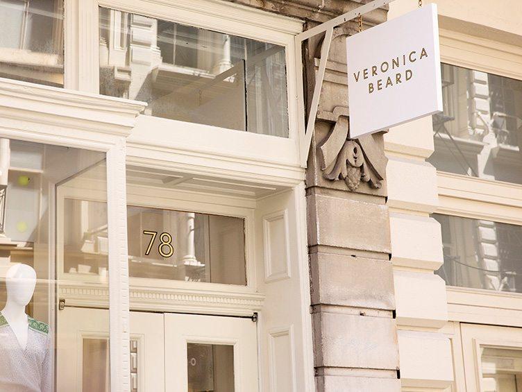 Veronica Beard clothing design store exterior SoHo white