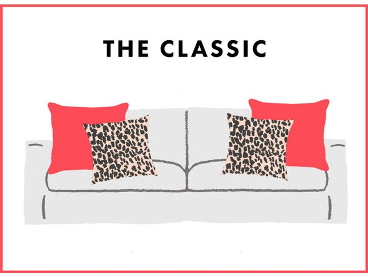 How to Arrange Sofa Pillows - The Classic