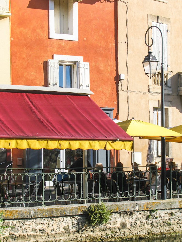 Riverside Bistro In the South of France on Chairish.