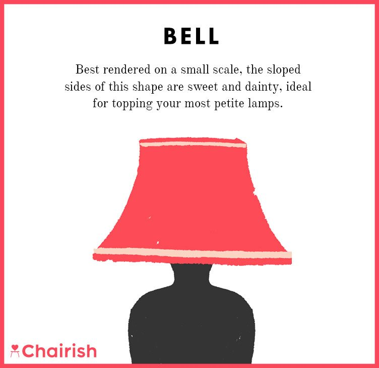 Sweet and Dainty Bell Lampshade Great For Petite Lamps On Chairish