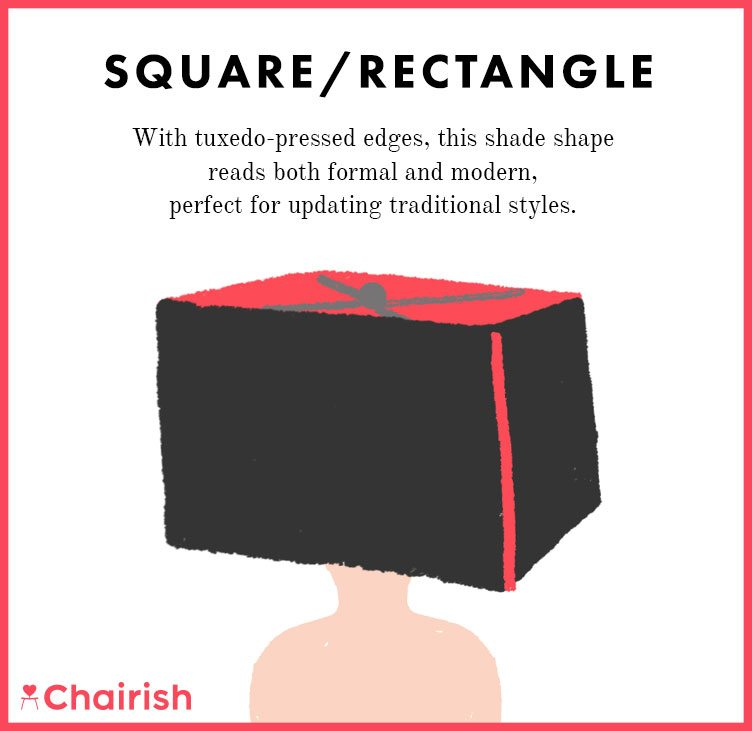 Square/Rectangle Lampshade is Formal and Modern to Update Traditional Styles on Chairish
