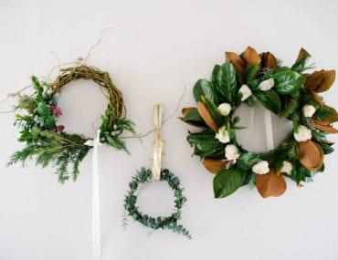 3 Elegant (and Easy!) Holiday Wreath Ideas