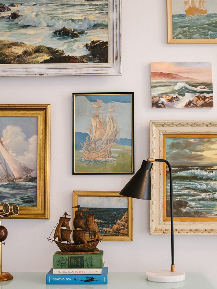 Collection of Nautical Vintage Paintings on Chairish.
