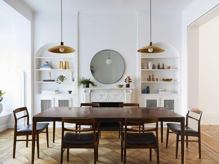dining room pendant lighting built in shelving