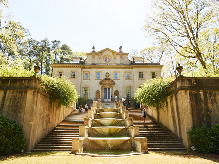 atlanta swan house historical home garden architecture landscape