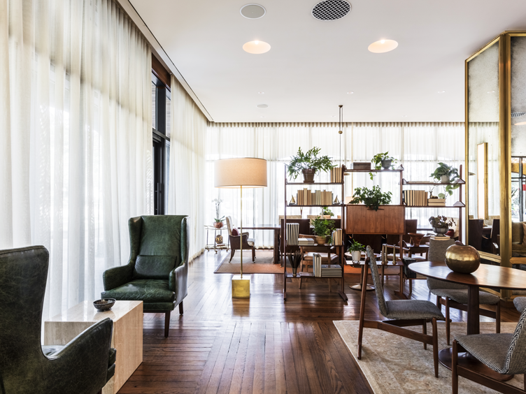 mid century modern accent chairs hotel lobby design insiders guide to charleston