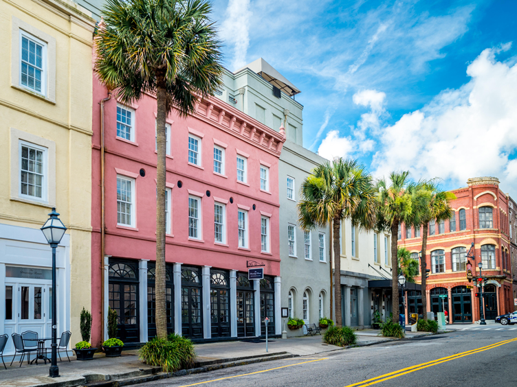 design insiders guide to charleston rainbow row storefront facade