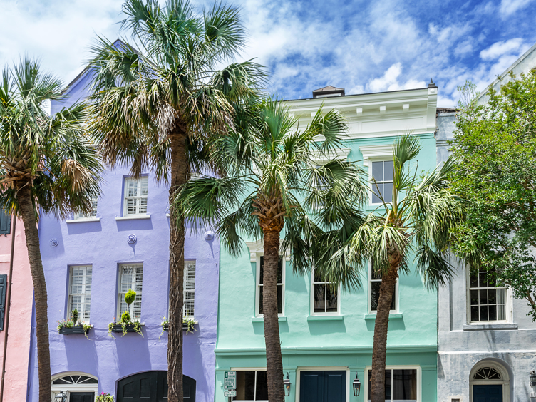 design insiders guide to charleston rainbow row colored facade