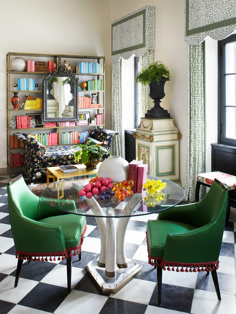 green velvet chairs with black and white check floor summer thornton
