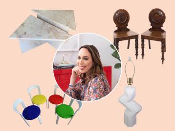 Zoë Feldman Surrounded by her Chairish Decorating Favorites