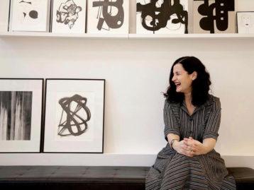 Chairish Artist Collective artist at work in studio