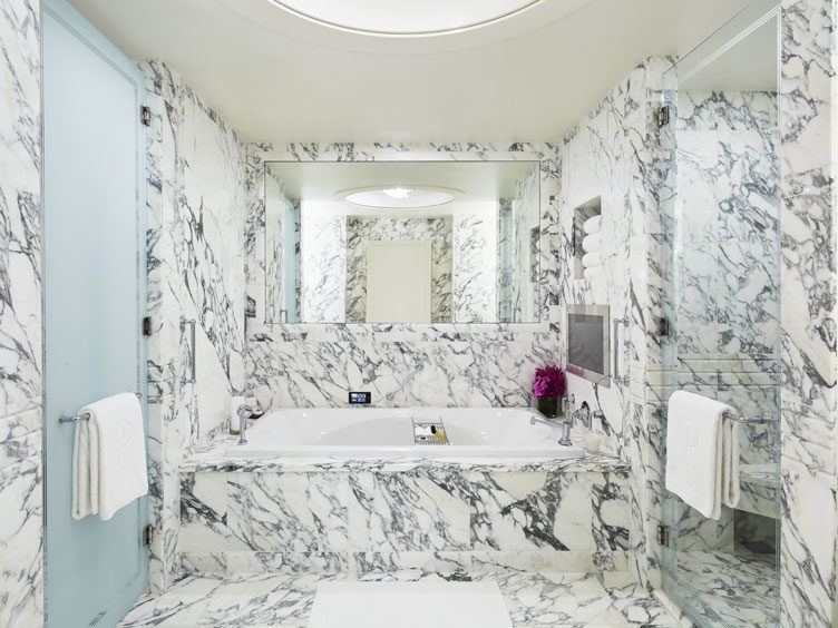 marble bathroom, peninsula hotel