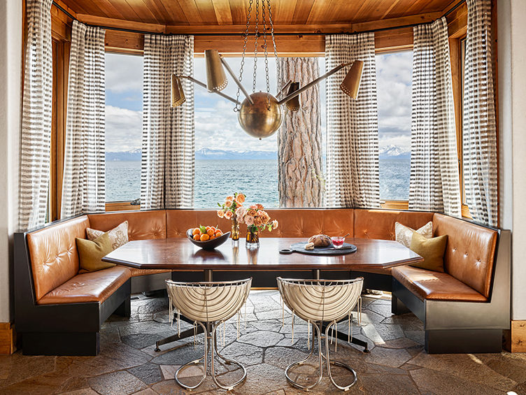 dining knook, cabin chic, kevin systrom home