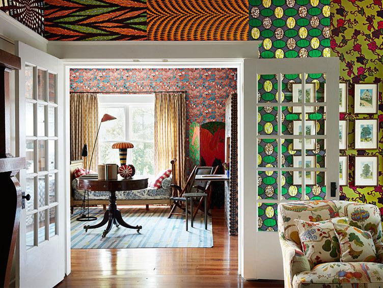 bold wallpaper, primack, mixing wallpaper patterns