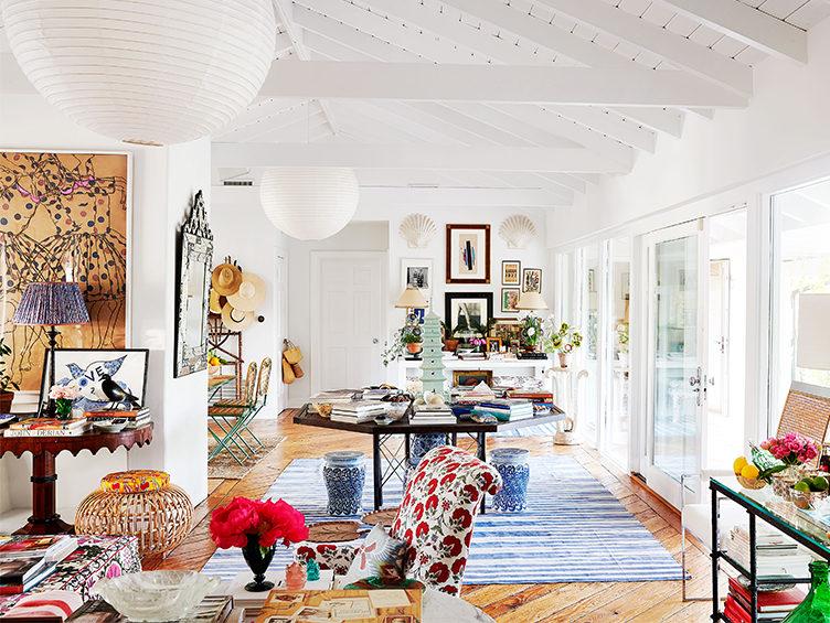 haute bohemian design, colorful textiles, rebecca de ravenel home