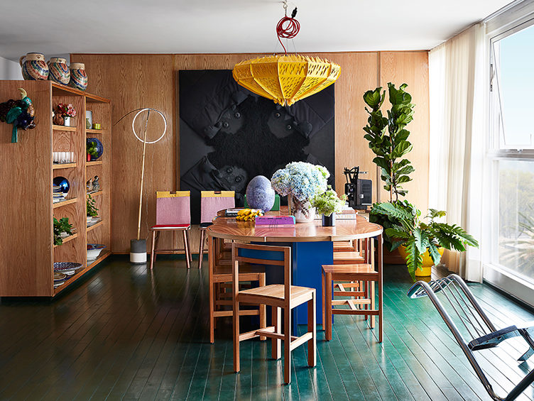 Colorful dining room, Primack and Weissenberg,