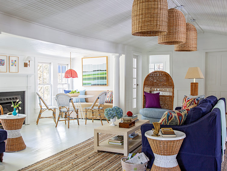 open floor plan, open space living, kevin isbell, coastal decor style