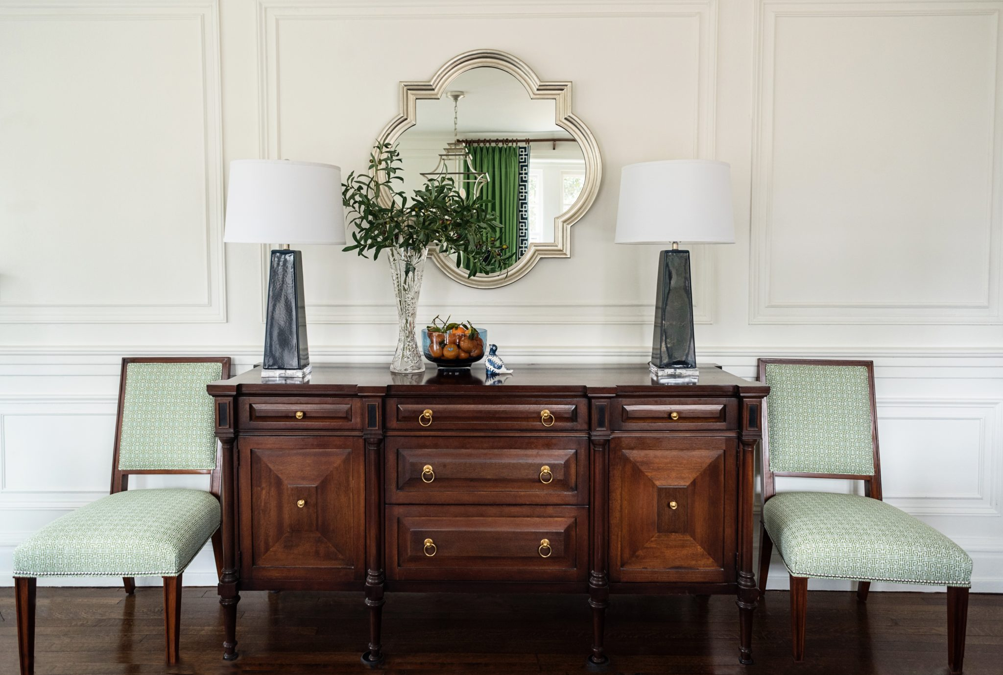 Traditional Dining Room Buffett in a Historic Home by Michele Plachter Design