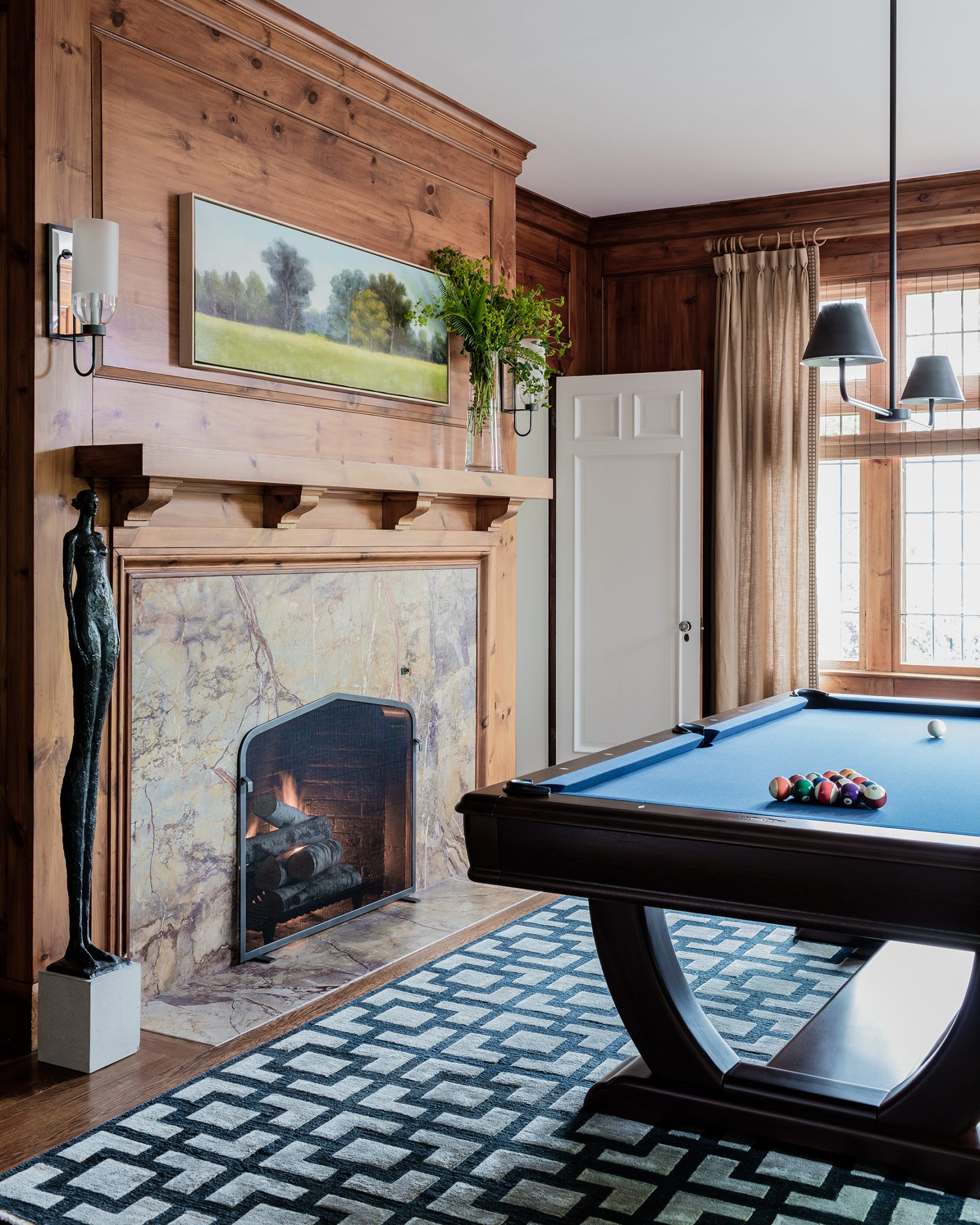 English Tudor, Game room by Tiffany Leblanc of LeBlanc Design, LLC