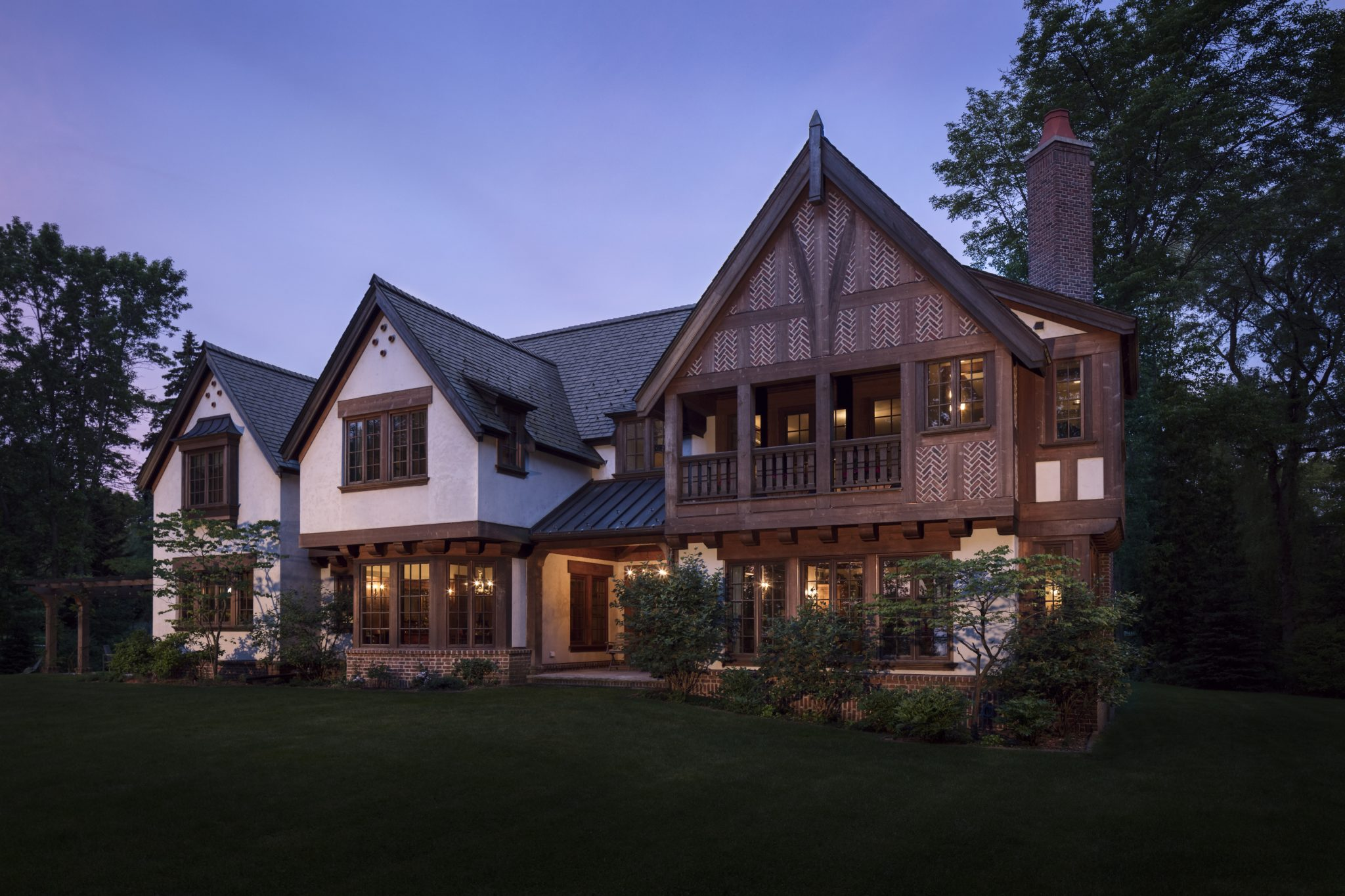 Our goal with this new home was to emulate a familiar English country home. by Wade Weissmann Architecture Inc.