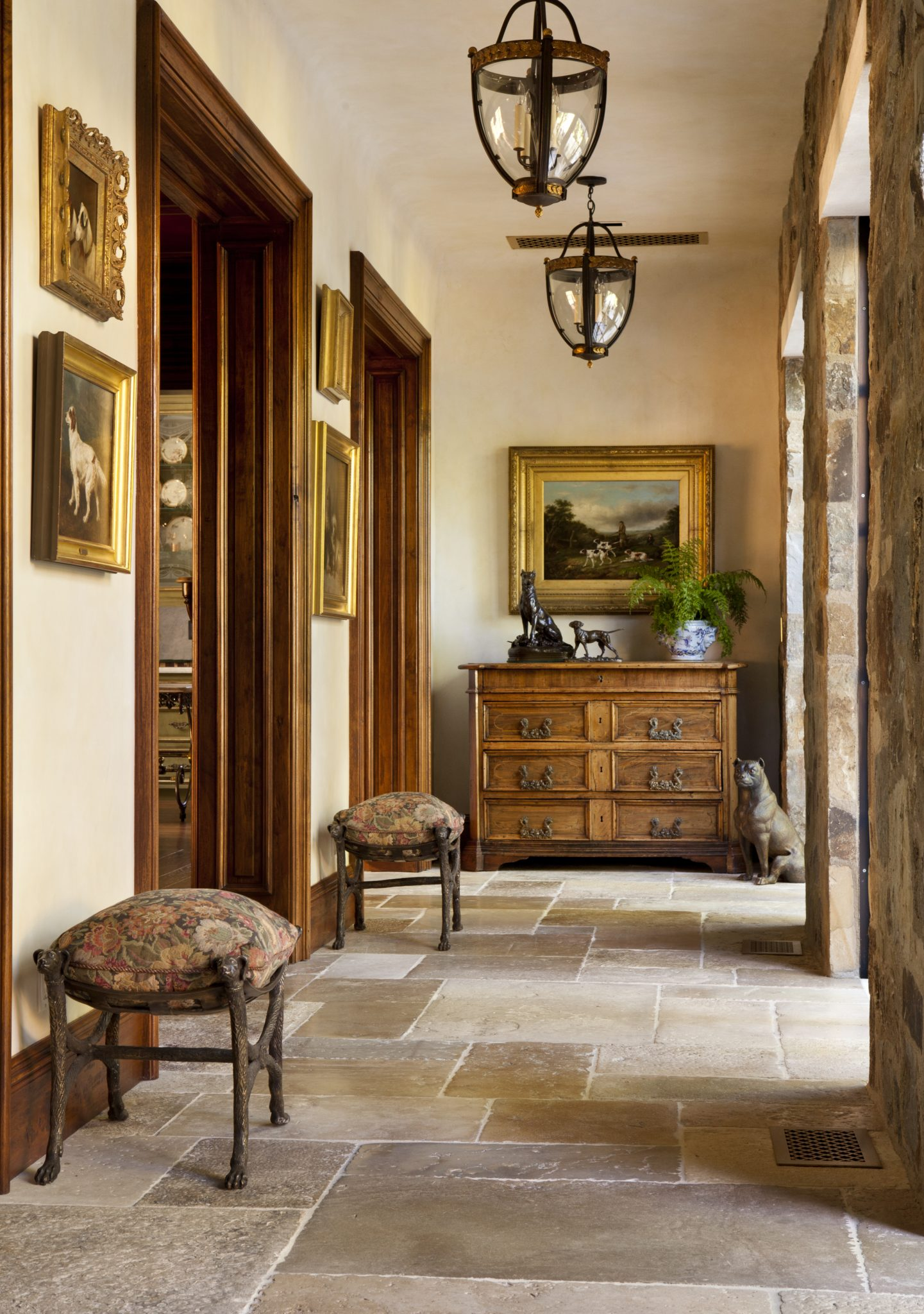 English Tudor by Linda L. Floyd Inc. Interior Design
