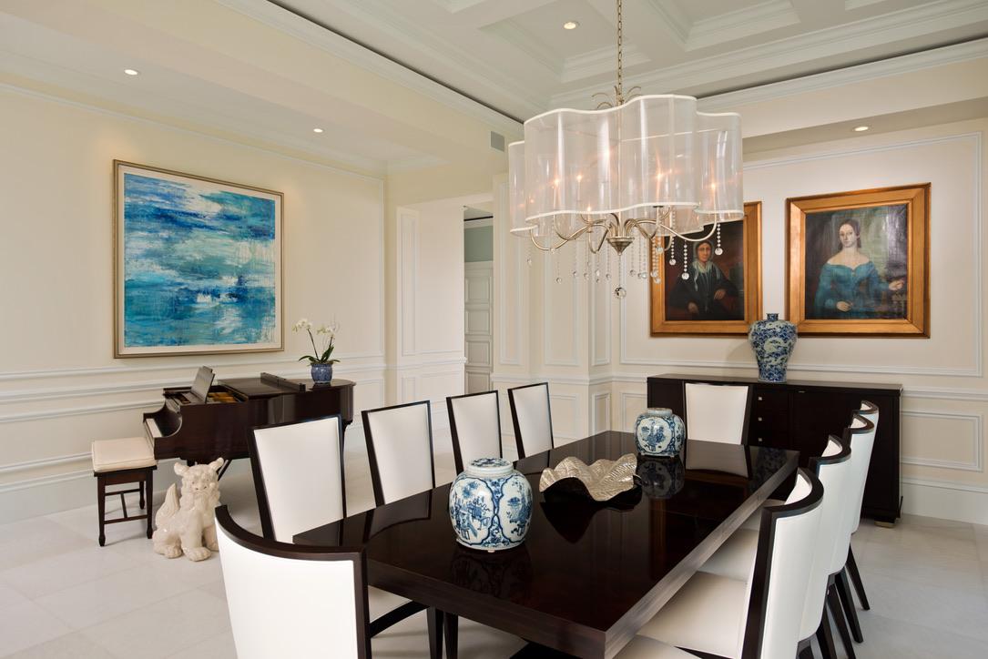 Florida Formal Dining Room by Diane Burgoyne Interiors by Diane Burgoyne Interiors