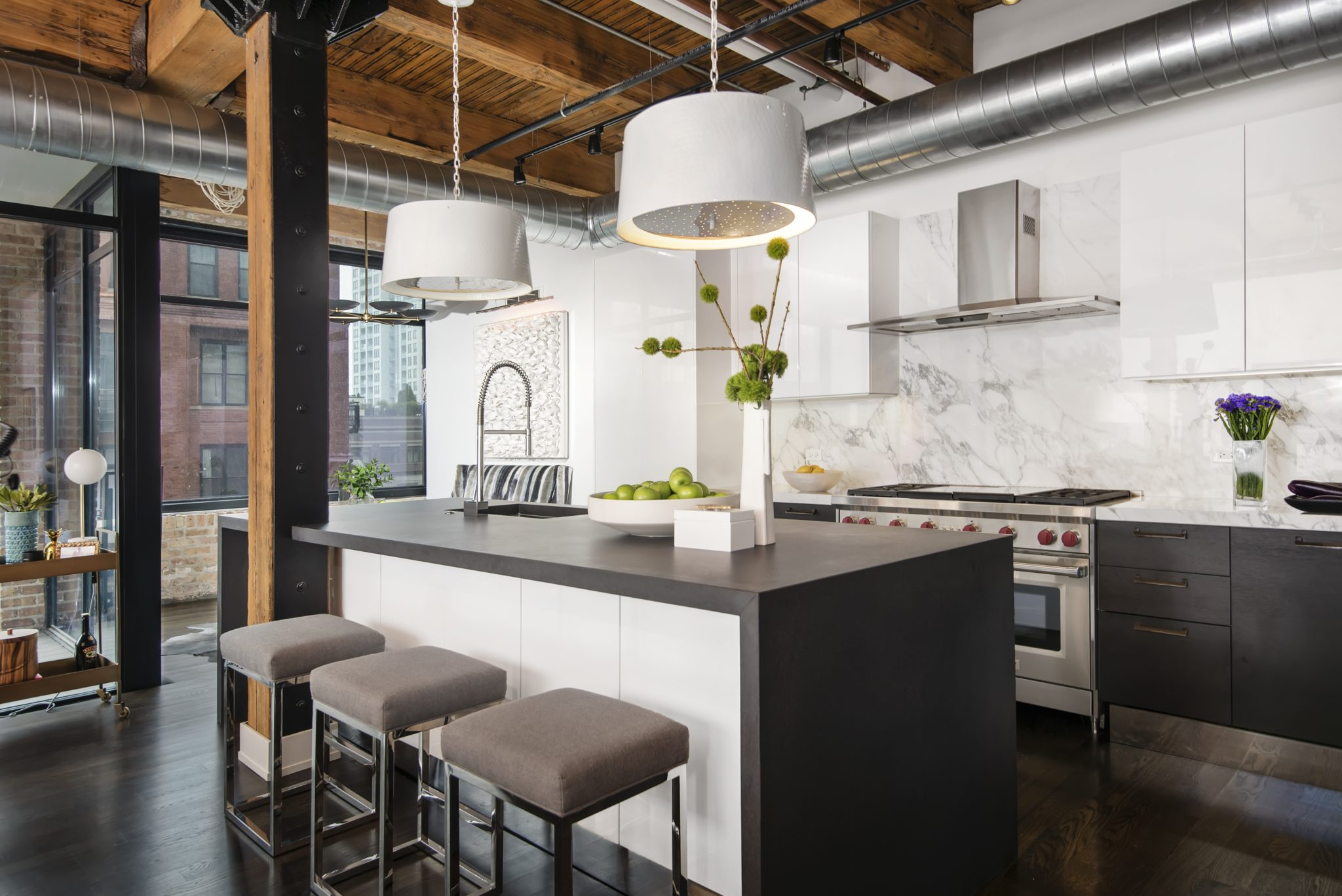 Former industrial timber loft building transformed into 41 sleek & modern units by Dresner Design