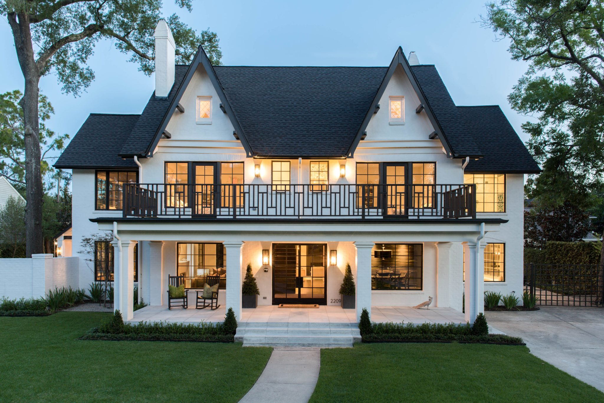 Traditional Tudor Made Modern - River Oaks - Houston, TX by Greer Interior Design