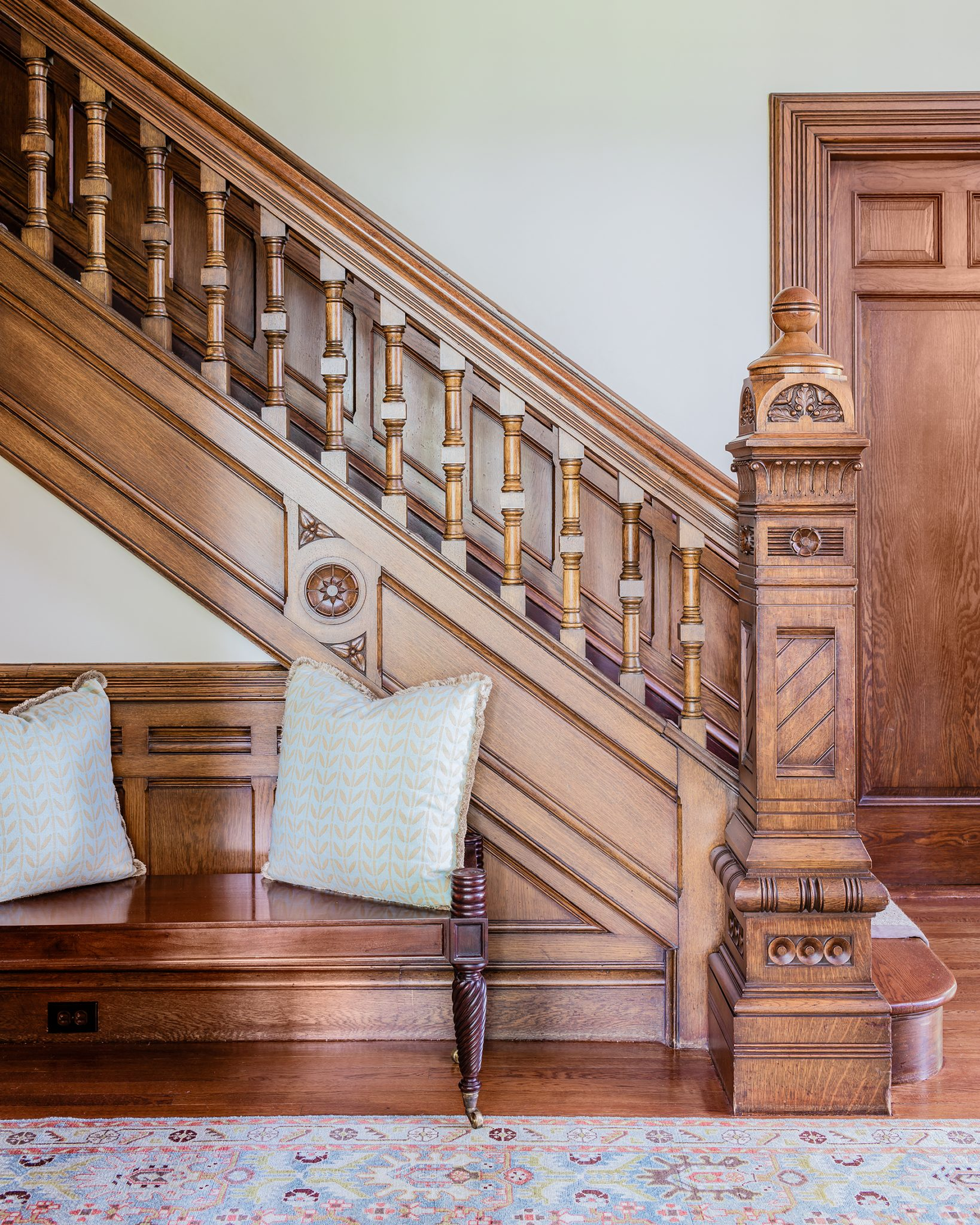 English Tudor, Staircase by Tiffany Leblanc of LeBlanc Design, LLC