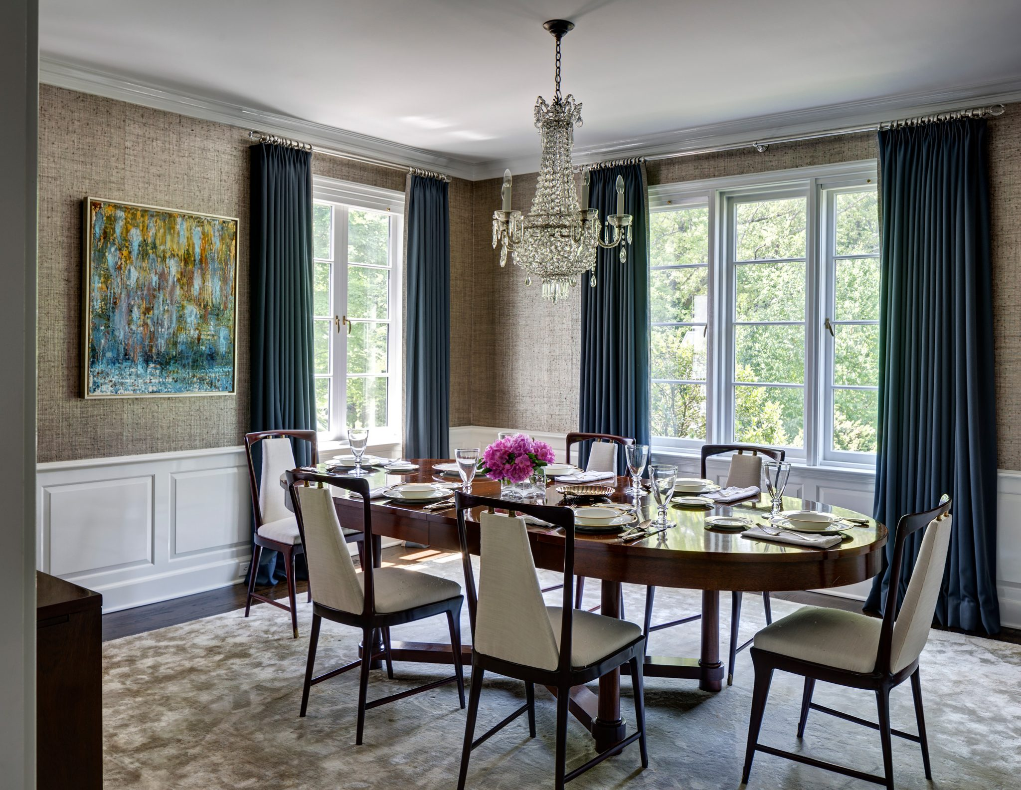 Darien Waterfront House, Dining Room by Fearins | Welch Interior Design