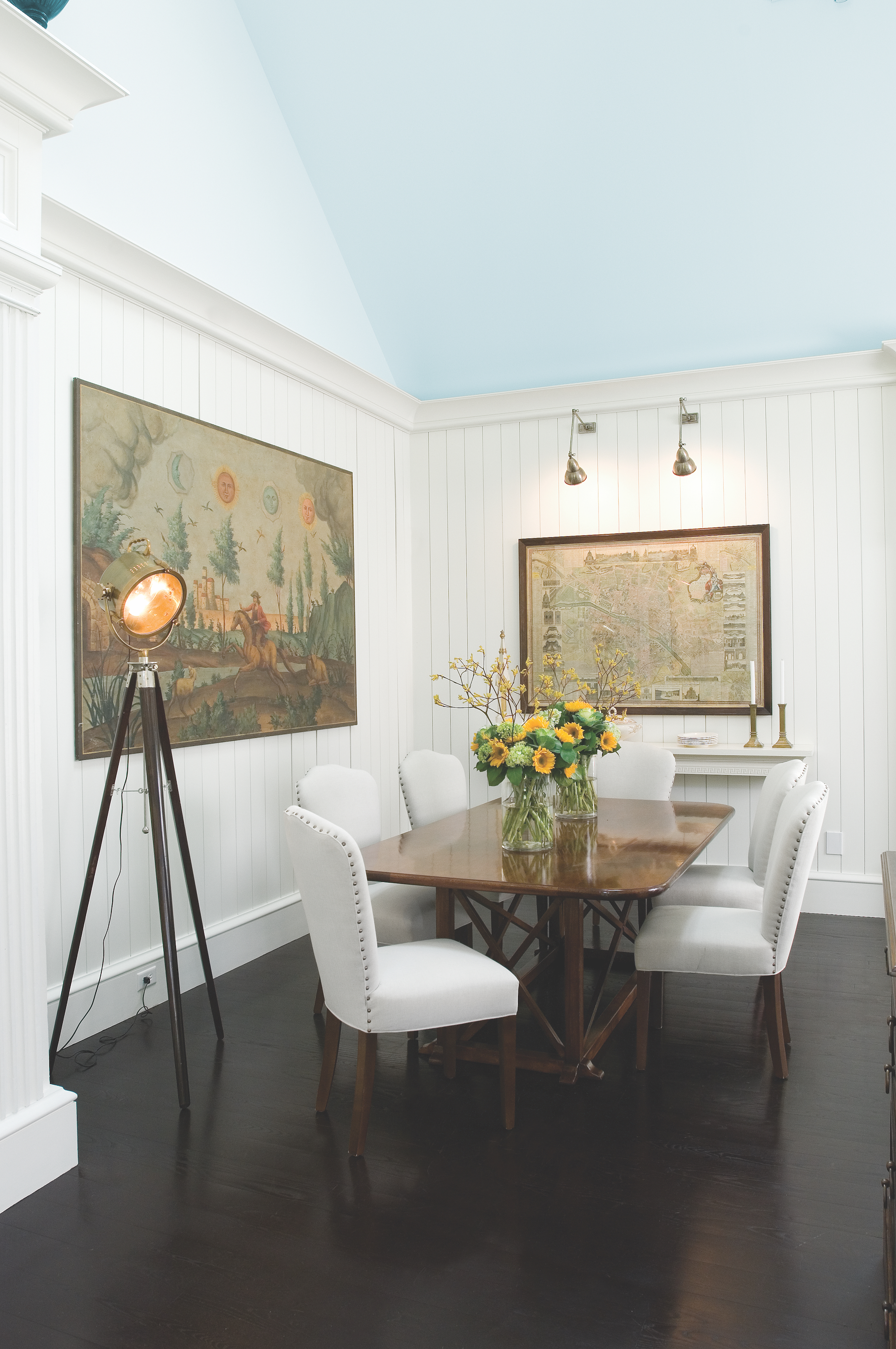Dining Room at Luxe Barn, Falmouth by Banks Design Associates Ltd.