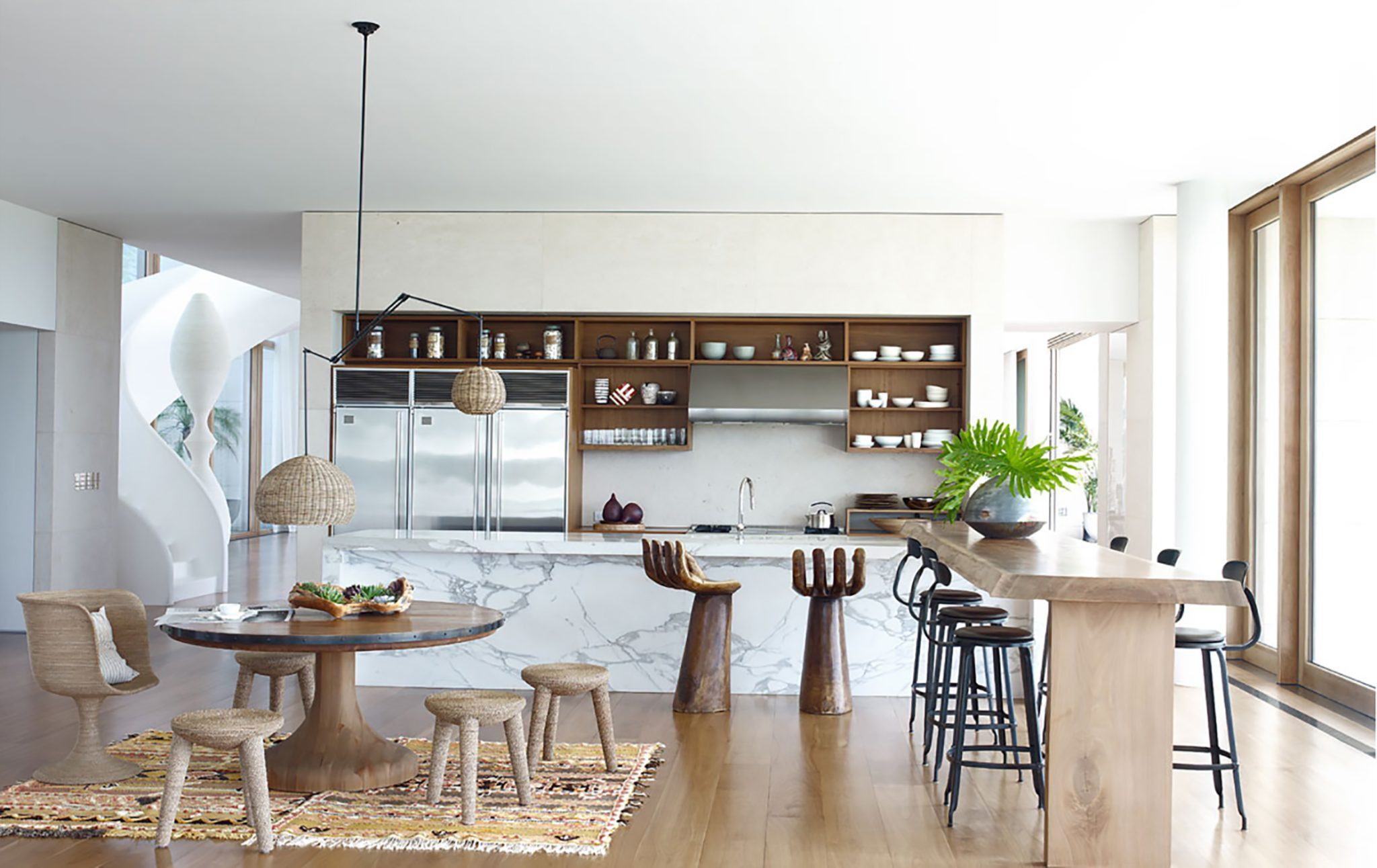 Hamptons Open Plan Kitchen by Kelly Behun Studio